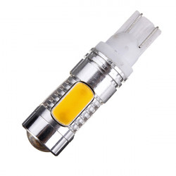 Bil Amber Yellow 5 LED COB SMD 7.5 W T10 W5W Lys Pæree A077