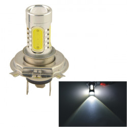 Car Fordon H4 11W 5SMD LED-optik Strålkastare Dimljus Bulb Vit 12V