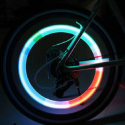 Car Bicycle Tire Spoke Wheel Alarm Blue LED Light Lamp Flash Tyre