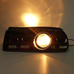Car Front Fog Light Lamp Grille Set For VW GOLF 1998-2005 Black