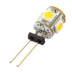 Bil G4 5 LED SMD 5050 Varmvitt Ljus lampa 12V