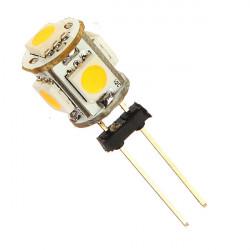 Bil G4 5 LED SMD 5050 Varmvitt Ljus lampa DC 12V