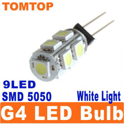 Auto G4 9 SMD LED 5050 SMD reines weißes Kabinett RV Boot Glühlampe
