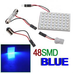 Car Interior 48 SMD LED Bulb Lamp Panel T10 Dome Bulb BA9S Adapter