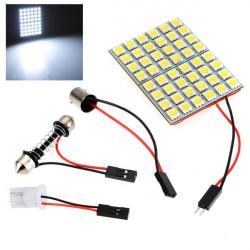 Car Interiør 5050 48 SMD LED Lys Panel + T10 + Festoon + BA9s DC 12V