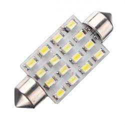 Car Interiør Dome 16 SMD LED Lys Hvid Lampe 42mm 12V