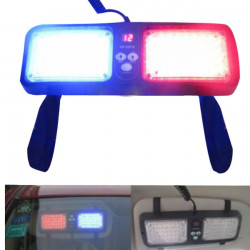 Car LED Sun Visors Burst Flashing Lights Strobe Lamp 5W 12V