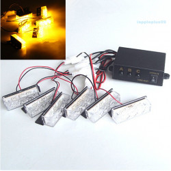 Car Yellow Amber 18LED Strobe Emergency Flashing Warning Grill Light