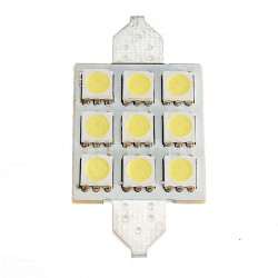 DC 12V 41mm 9 LED SMD 5050 LED Bil Lampa