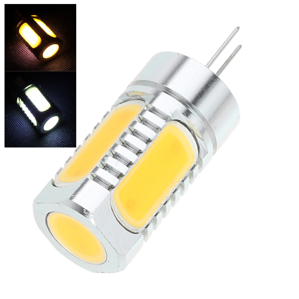 G4 6D 7.5W LED Ljus Lamp DC12V LED Ljus Warm Cool Vit Ljus Bilbelysning
