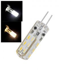 G4 LED Pære Lampe 3014 SMD 24 LED Pære Hvid / Varm Hvid