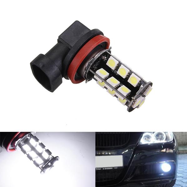 H11 3.5W 5050 27SMD Dimljus DRL Lampa 260ma 350lm Bilbelysning