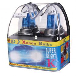 H13 9008 White Xenon HID Headlight Bulbs Low/High Beam