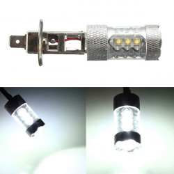 H1 80W 16 LED Fog Tail Turn DRL Head Car Light Lamp Bulb