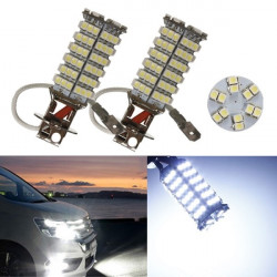 H3 120 SMD 3528 Bil LED Vit Dimljus Ljus Headlight Lamp Bulbs