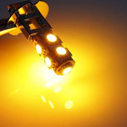 H3 9SMD 5050 Bil LED Dimljus Ljus Lampa Glödlampor Gul 12V 2W 64LM