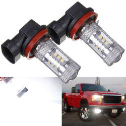 H8 H11 15W HID 15 LED SMD Car Fog Driving DRL Light Bulbs