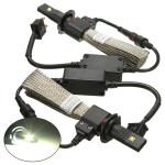 Strålkastare H7 Bil Cree LED-lampa 5000lm 40W Set Ombyggnadssats 6000K Bilbelysning