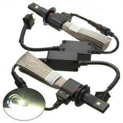 Strålkastare H7 Bil Cree LED-lampa 5000lm 40W Set Ombyggnadssats 6000K