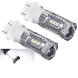 High Power 3157 3156 4114 15W Vit DRL Omvänd Backup Ljus Bulb