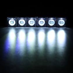 High Power 6 LED DRL 12/24V 6W Universal Daytime Running Light