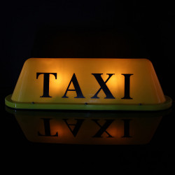 LED 12V Car Taxi Cab Roof Top Sign Light Lamp Magnetic Yellow