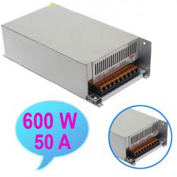 LED Power Supply 600W 12V 50A Strömförsörjning Transformator