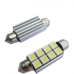 LED Soffitte Canbus-Widerstand 42mm Weiss 8 X 3CHIP SMD