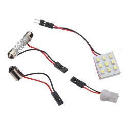 Light Panel 9 SMD LED Bulb Lamp T10 Dome Bulb BA9S 12V Adapter