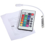 Mini 24Key IR Fjärrkontroll 12V för LED RGB 3528 5050 LED-Slinga Bilbelysning