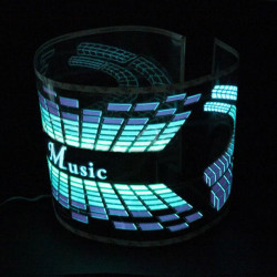 Musik Rhythm Sound Aktiveret Equalizer LED Lys Lampe Bil Sticker Klistermærker 12V