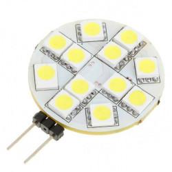 Ny G4 2.5W 50-Lumen 6500K 12x5050 SMD LED Vit Ljus Bulb (12V)