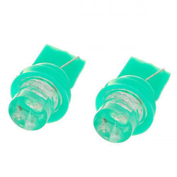 Ny T10 1W 12V Green Ljus Bil Turn (2-Pack)