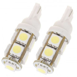 New T10 3W 100-Lumen 9x5050 SMD LED Car White Light Bulb DC 12V