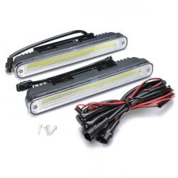 Ett Par 12W COB LED-lampor LED DRL Varselljus Lampor