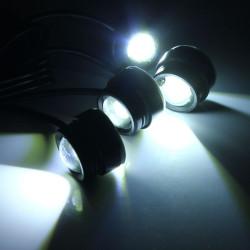 En til Fire 4x3W Advarselsblink Eagle Eye LEDs Bil Lys med Trådløs Fjernbetjening