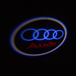 Pair 3W LED Projector Ghost Shadow Light Car Welcome Lights for Audi