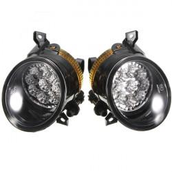 Pair 9 LED White Bright Fog Light Lamp Left & Right For VW GOLF MK5 JETTA