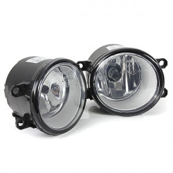 Pair Front Bumper Clear Fog Lights Lamps Switch for Toyota Yaris