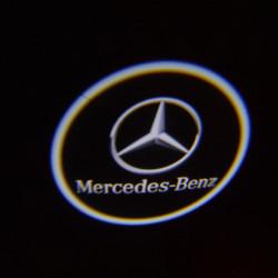 Par 3W LED-ljus Bil Välkommen Ljuss Laser Lampa för Benz