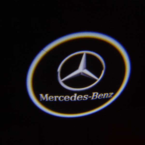 Paar 3W LED Light Car Willkommen Licht Laser Lampe für Benz Autobeleuchtung