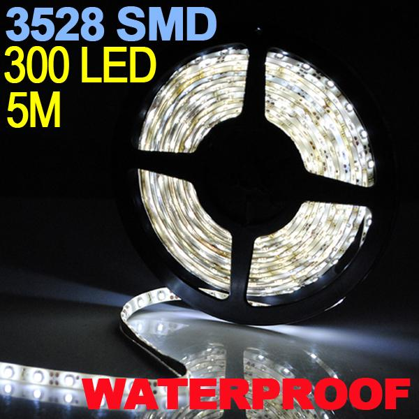 Pure White 5M 300LED 3528 SMD flexible LED Lichtleiste Autobeleuchtung