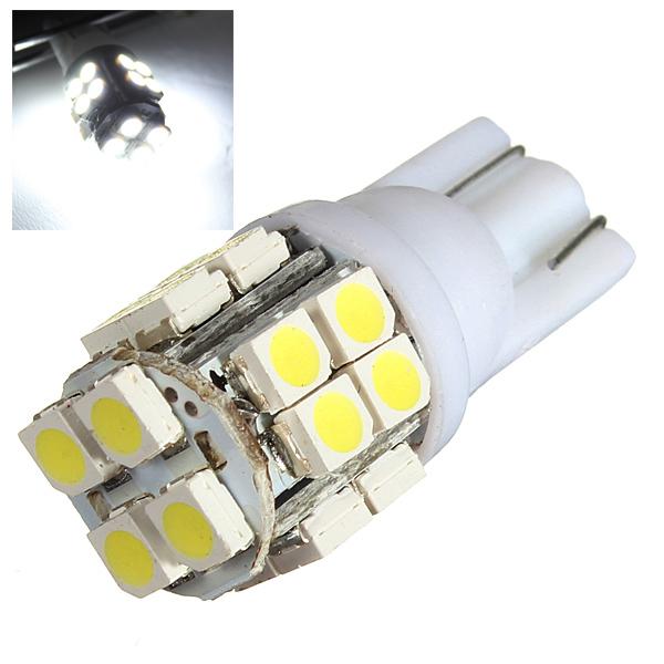 Pure White T10 1210 20SMD Led Light Bulb for All Make Car Wide-usage Car Lights