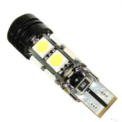Pure White T10 5050 8SMD 3W Led Light Bulb with Canbus