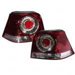Rote Rückleuchte Lampen mit Glühbirnen links und rechts für VW Golf 4 Autobeleuchtung