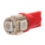 Red T10 194 168 W5W 501 5 SMD LED Car Wedge Sidelight Bulb Car Lights