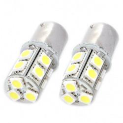 S25 2.6W 130LM 13x5050 SMD LED Car White Light Bulbs (Pair)