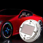 Solar Energy Auto Rad Licht bunte Auto LED Rad Solar Light Autobeleuchtung
