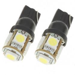 T10 1.5W 95LM 5x5050 SMD LED 2 Mode Auto Drehen Glühlampen