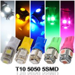 T10 194 168 2825 5SMD 5050 LED Grön Super Bright Bil Wedge Lampan